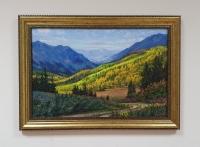 Картина маслом горный пейзаж осенняя тематика «Осень в горах» купить живопись Киев