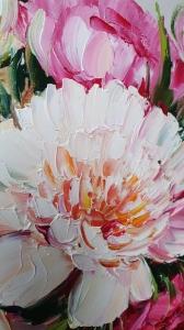 Картина цветы «Яркие пионы» купить современную живопись Украина