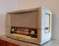 Ретро радиоприемник ламповый «Ретро радио ФЕСТИВАЛЬ-61» в бежевом цвете отреставрированный купить
