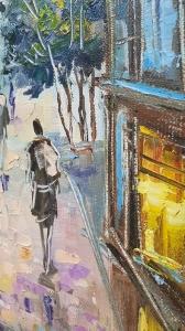 Картина маслом городской пейзаж Львов «Очарование Львова» купить живопись Украина