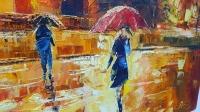 Картина маслом городской пейзаж «Красный корпус Университета им. Шевченко» купить живопись для современных интерьеров Украина