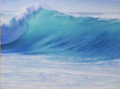 Картина маслом море пейзаж «Морской пейзаж. Нежная волна» купить современную живопись Украина