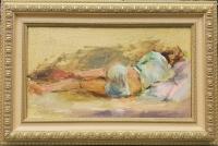 Картина «Спящая» купить живопись для современных интерьеров Украина