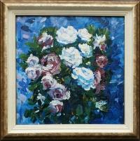 Картина с цветами «Розы» купить живопись для современных интерьеров Украина