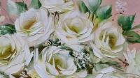 Картина цветы розы «Нежный букет роз» купить современную живопись Украина Киев