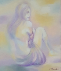 Картина маслом «Нежные мечты» купить живопись Киев