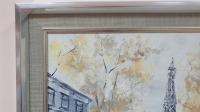 Картина маслом городской пейзаж Париж «Наш теплый Париж» купить живопись Киев