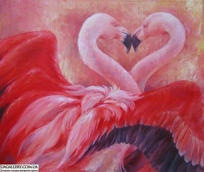 Картина «Нежный поцелуй фламинго»