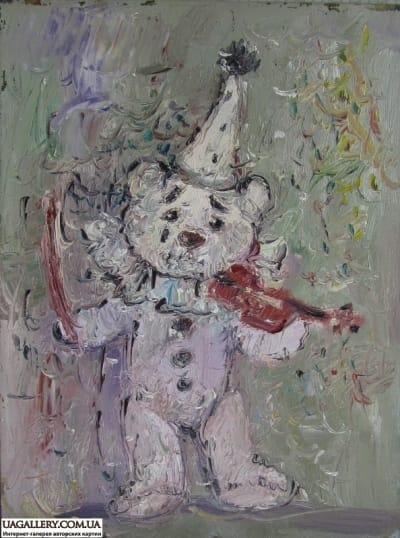Картина «Мишка-Пьеро»