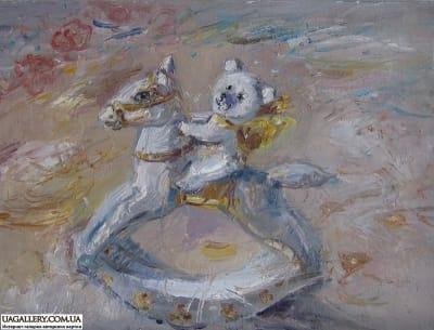 Картина «Мишка-Всадник»