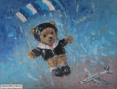 Картина «Мишка-Парашютист»