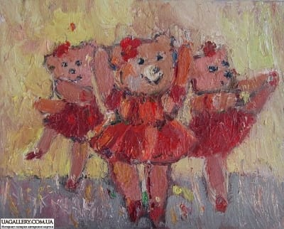 Картина «Мишки-Балеринки»