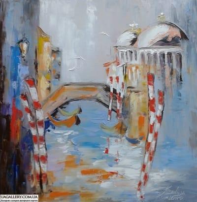 Картина «Гондола по воде скользит, а время по любви летит»