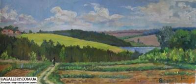Картина «Украинский пейзаж. Дорога в лето»