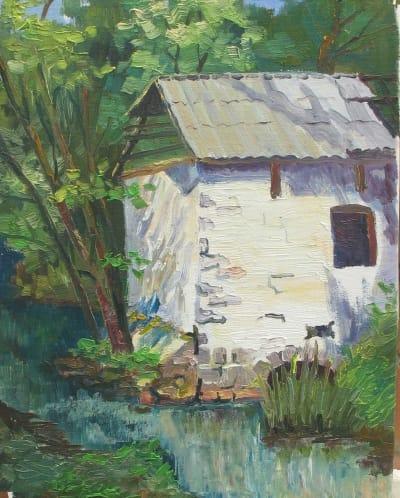 Картина «Украинский пейзаж. Мельница»