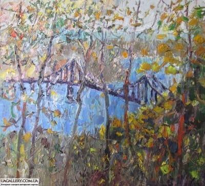 Картина «Виды Киева. Пешеходный мост»