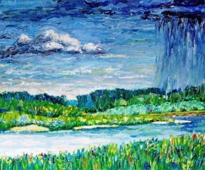 Картина «Летний дождь»