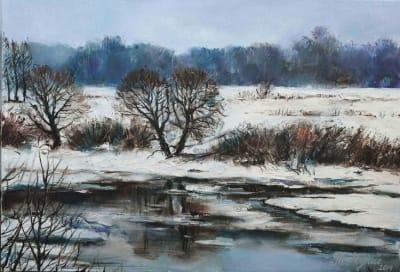 Картина пейзаж «Пробуждение» купить живопись Украина