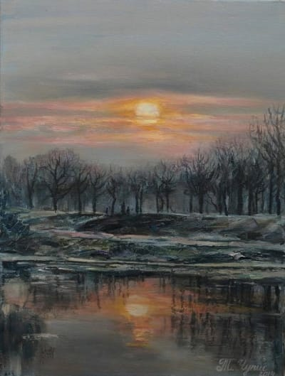 Картина «Теплый вечер» купить живопись Украина