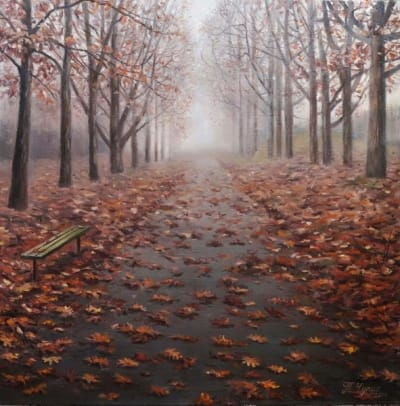 Картина пейзаж «Раннее утро» купить живопись Украина