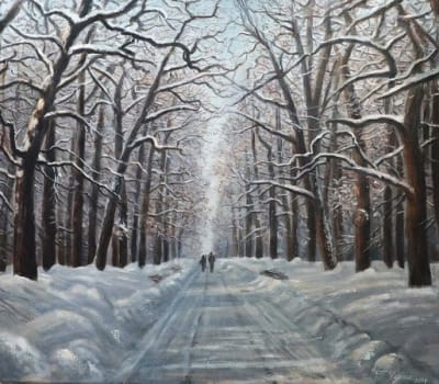 Картина «Зимняя аллея»