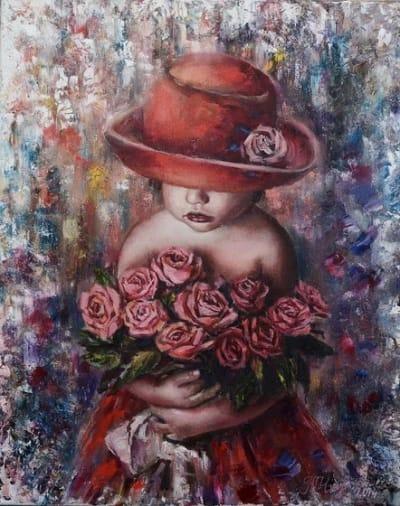 Картина маслом «Маленькая леди» купить живопись Украина
