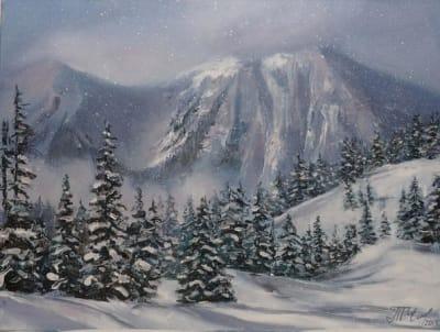 Картина пейзаж «В горах» купить картину маслом Киев