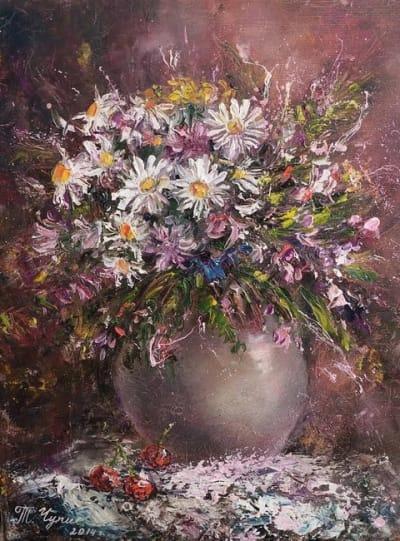 Картина цветы «Цветочная фантазия» купить живопись Украина