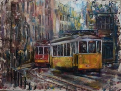Картина «Трамвайчики» купить живопись Украина