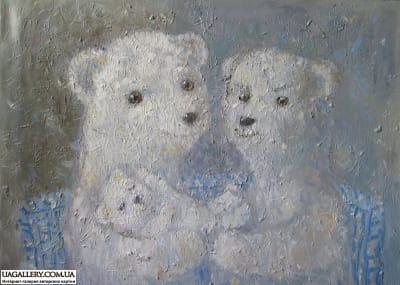 Картина «Мишки. Молодая семья»