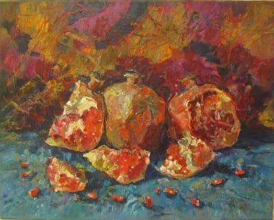 Картина «Натюрморт с гранатами»