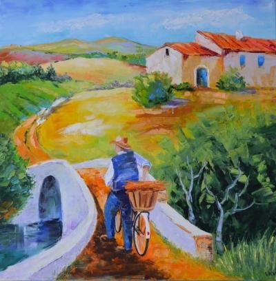 Картина «Велосипедист.Прованс»