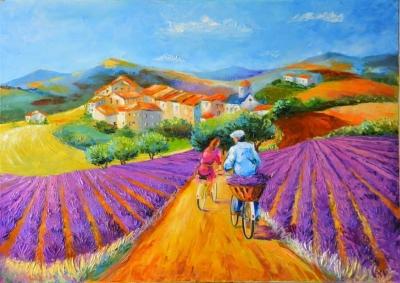Картина «Велосипедная прогулка в Провансе»