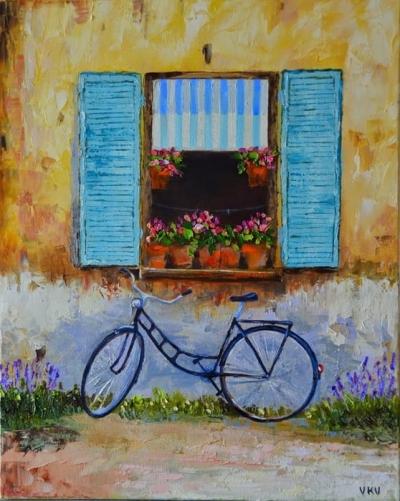 Картина «Велосипед у окна»