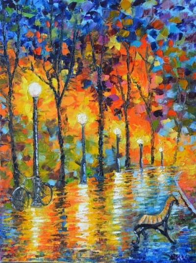 Картина «Велосипедная осень»