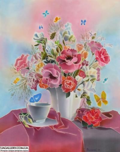 Картина «Утренние цветы»