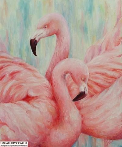 Картина «Нежная любовь фламинго»