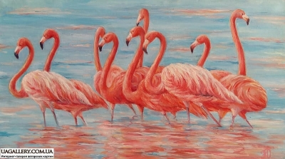 Картина «Яркий мир фламинго»