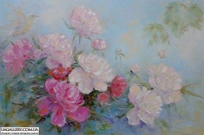 Картина «В саду пионовое царство»