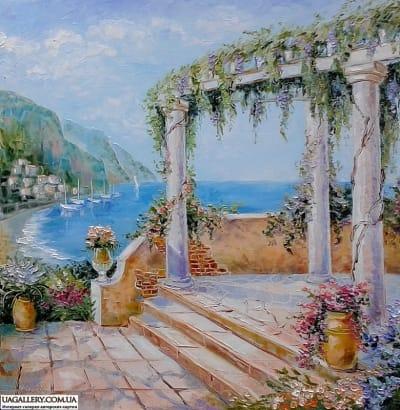 Картина «Рассвет - божественное утро над старым городом любви»