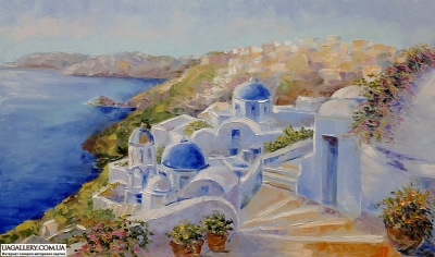 Картина «Санторини - помпеи Эгейского моря»