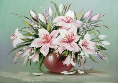Картина «Нежные лилии»