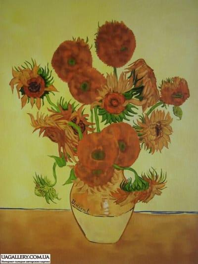 Картина «Подсолнухи» копия Ван Гога