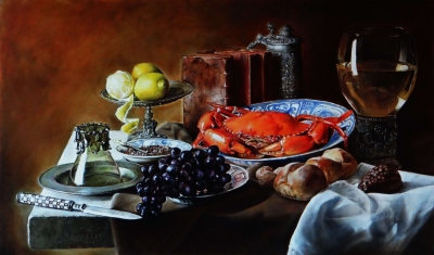 Картина «Натюрморт с крабом»