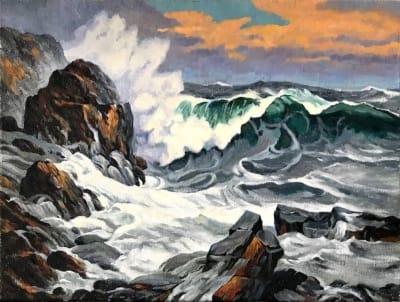 Картина маслом морской пейзаж «Море» - картины для современных интерьеров Украина - живопись морской пейзаж