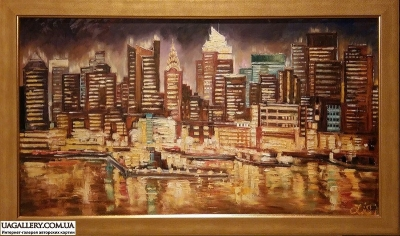 Картина «Вечерний Нью-Йорк»