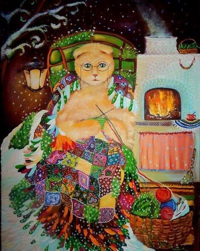 Картина «Летняя зимушка»