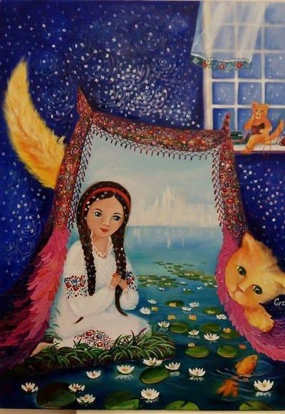 Картина «Лилии - звездочки»