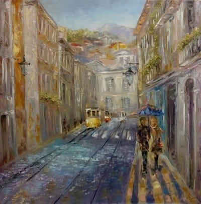 Картина «Дождь для влюбленных»