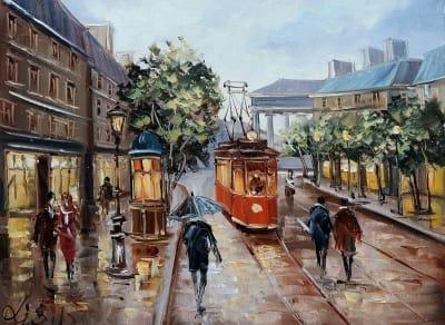Картина «Гуляя улицами Парижа»